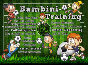 BC Erlbach Bambini Training - Immer Donnerstag ab 17 Uhr