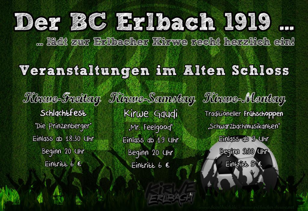 Erlbacher Kirwe 2015 - BC Erlbach - Alte Schloss