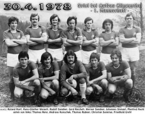Auswärtsspiel in Klingenthal - 1. Mannschaft 1978