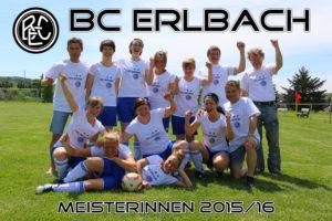 BC ERlbach Damen Meister 2015/16