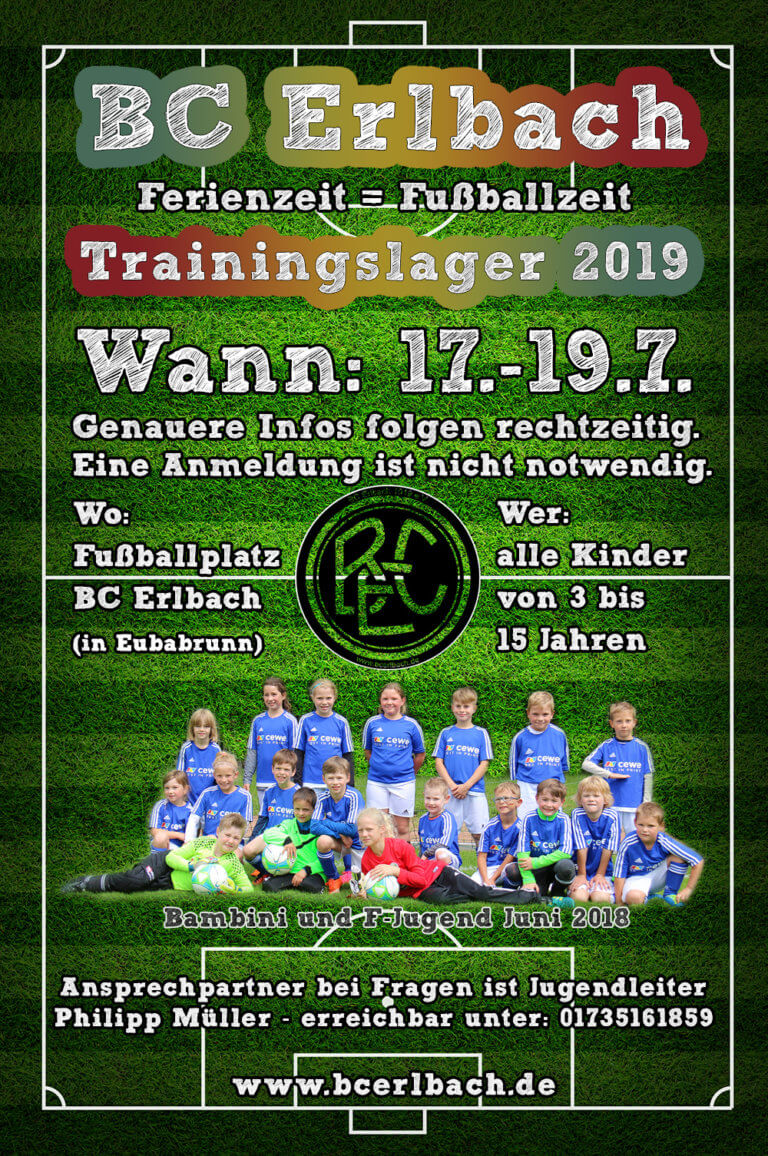 Ankündigung Trainingslager 19
